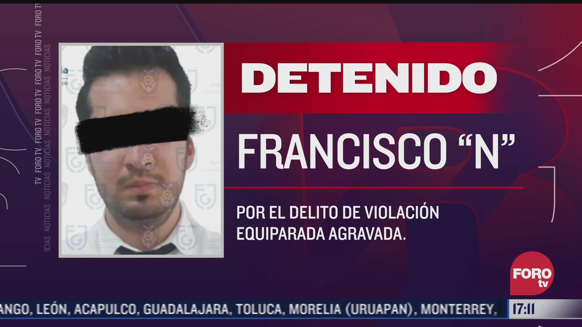 detienen a un hombre acusado de violacion en la cdmx