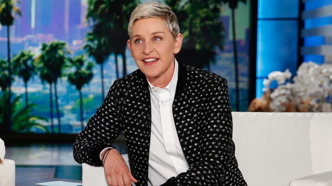 """Ellen DeGeneres aparece durante una grabación del programa """"The Ellen DeGeneres Show"""", en Burbank, California"""