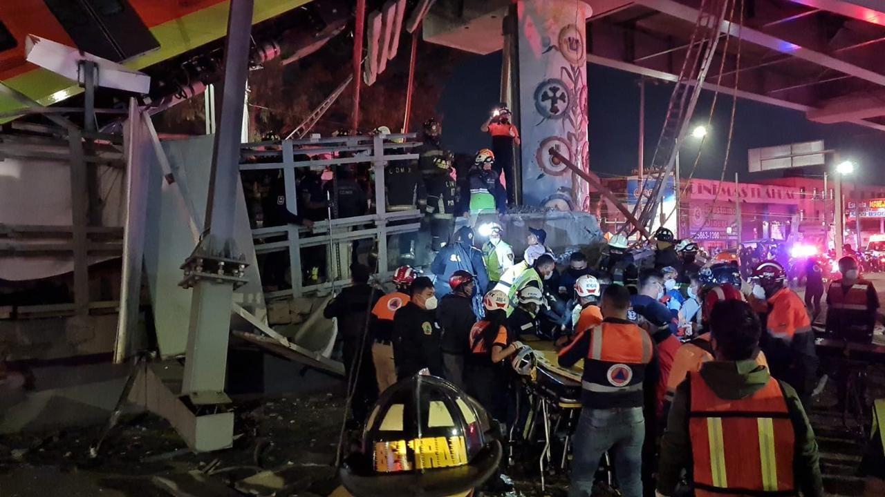 En qué hospitales atienden a heridos de caída de trabe en estación Olivos Línea 12 Metro CDMX