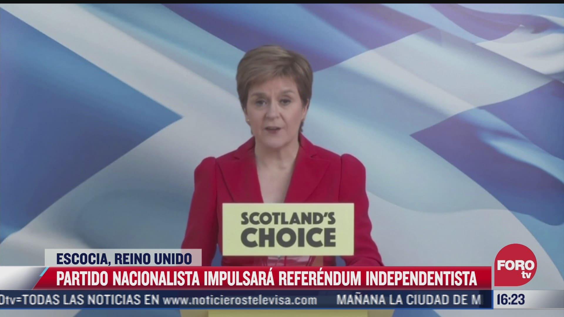 escocia impulsara nuevo referendum de independencia del reino unido