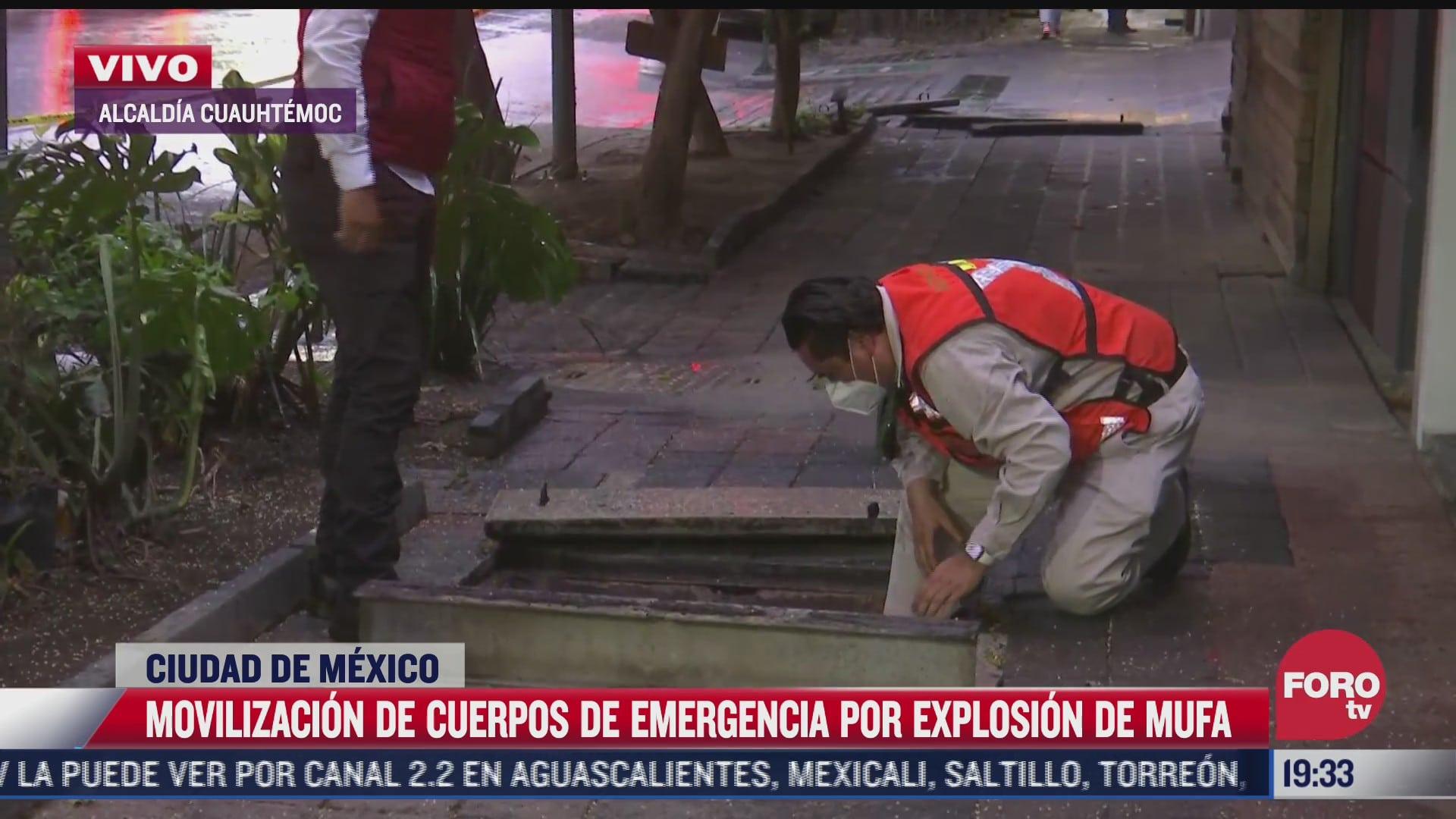 explota mufa en calles de la colonia juarez