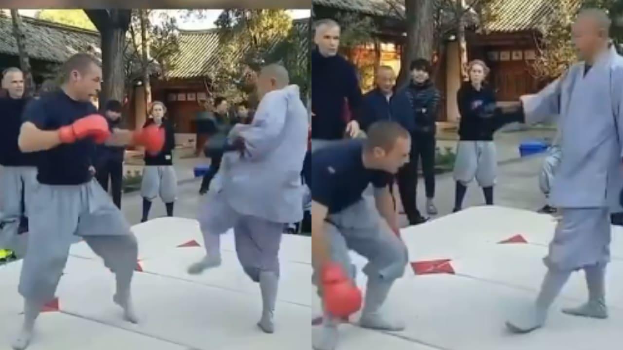 Monje Shaolin patea a exluchador de la UFC; se vuelve viral