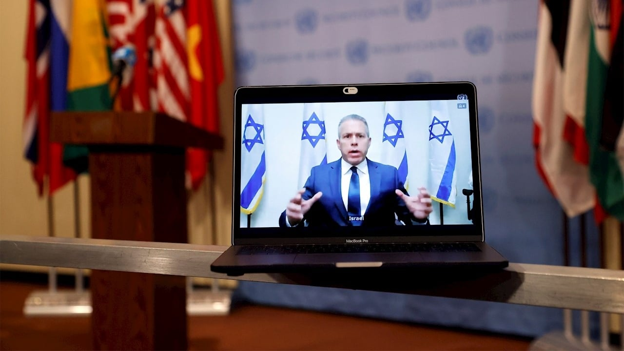 El embajador israelí ante Estados Unidos y la ONU, Gilad Erdan