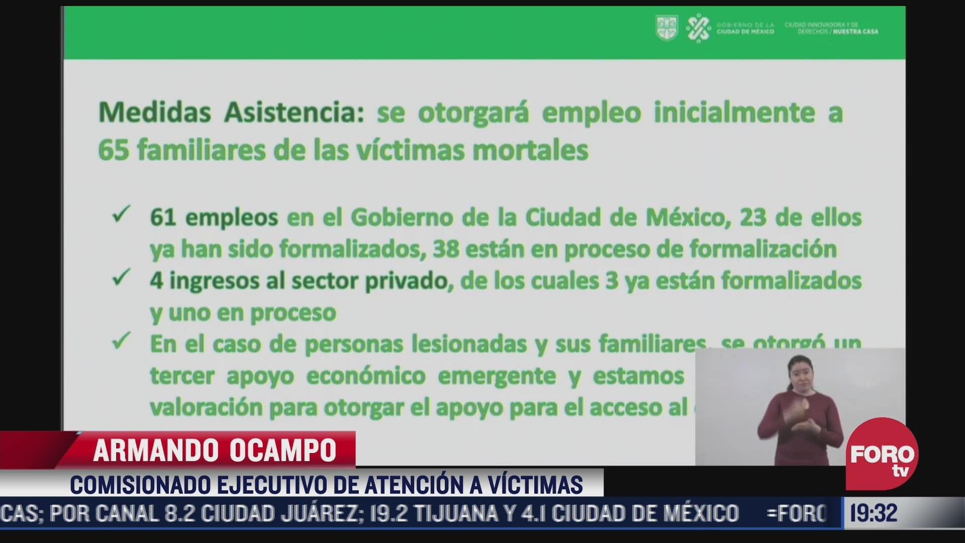 gobierno de cdmx dara empleos a familiares de victimas de l12 del metro