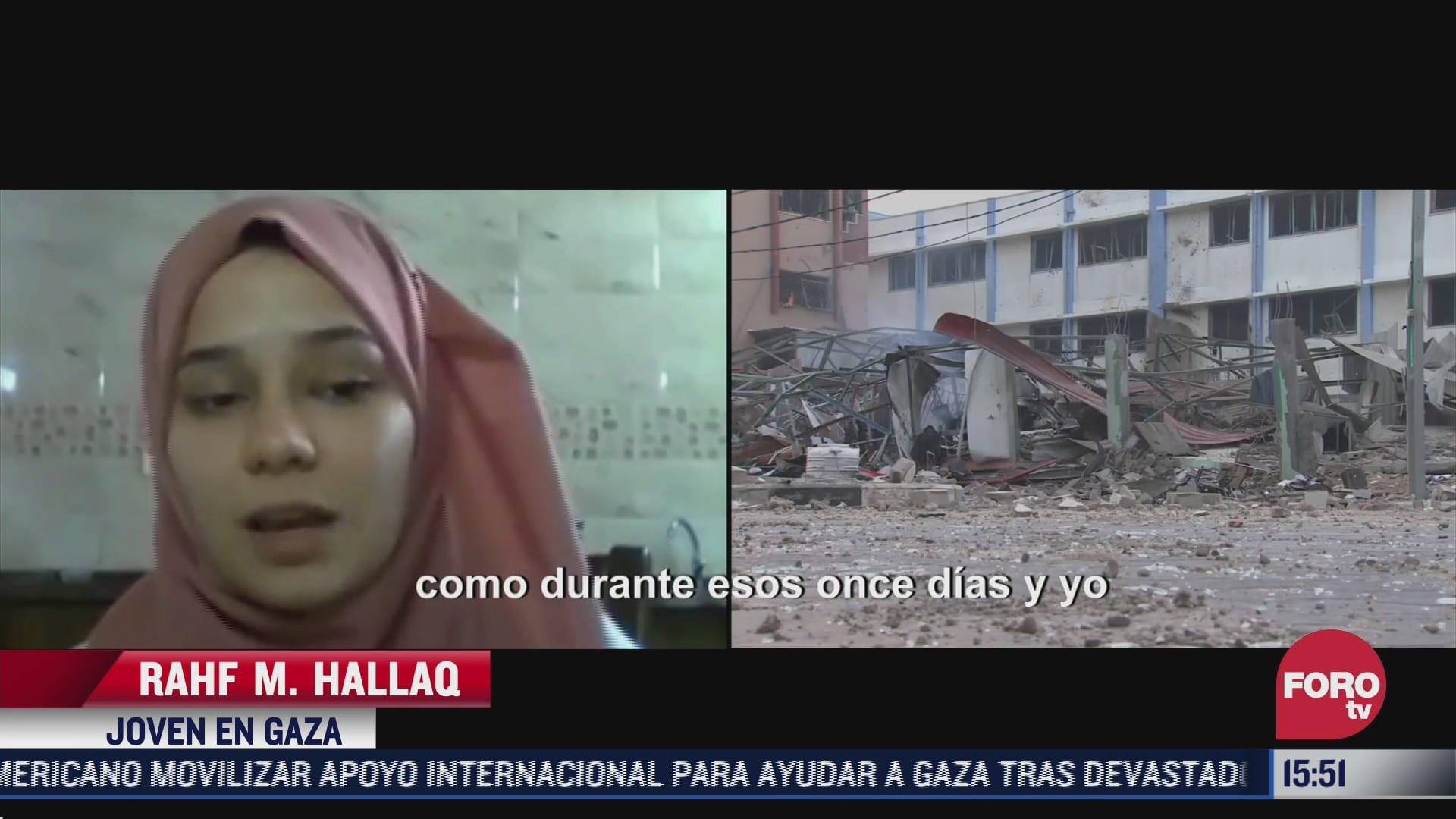 habitante de gaza habla de la vida ante conflicto entre israel y hamas