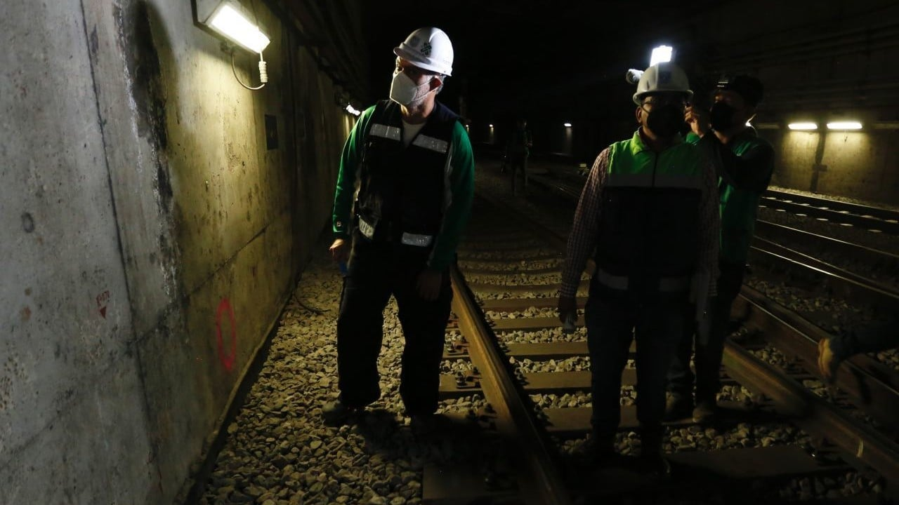 Ingenieros civiles participan en revisión del tramo subterráneo de Línea 12 del Metro CDMX