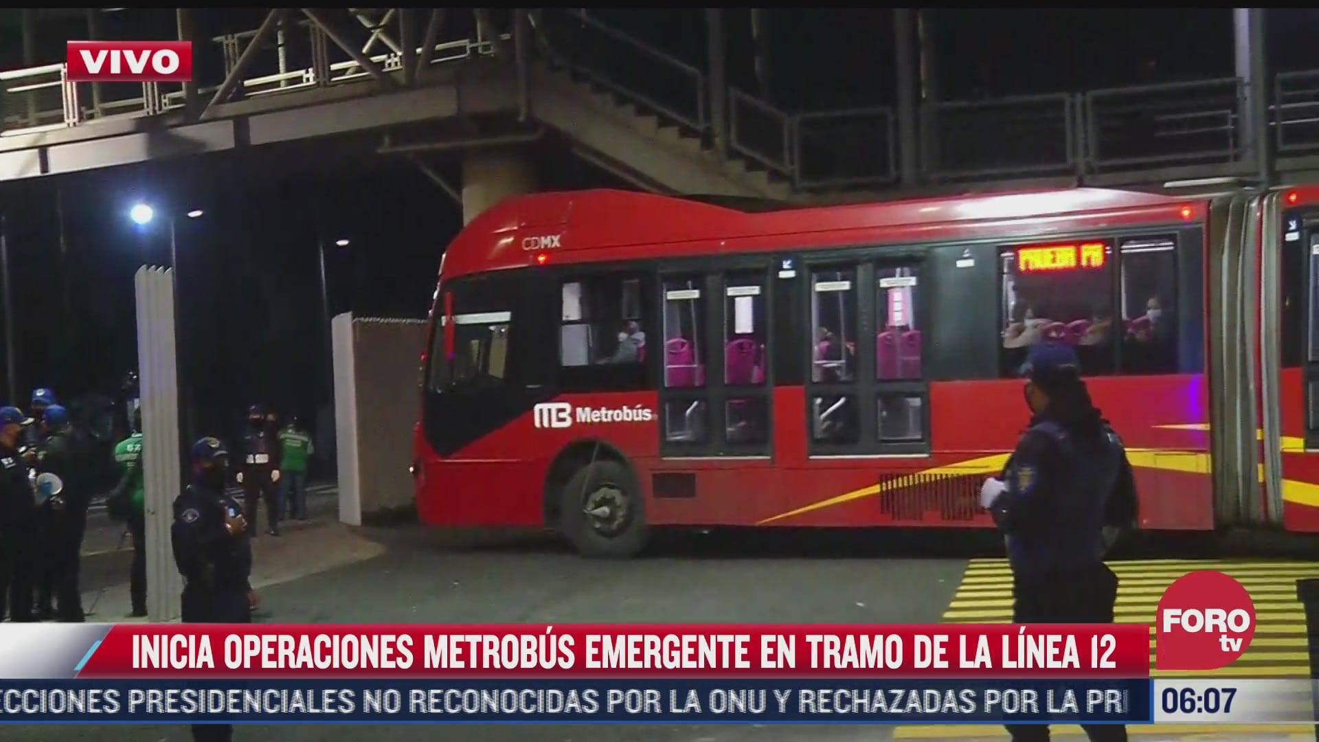 inicia operaciones metrobus emergente en tramo de la linea