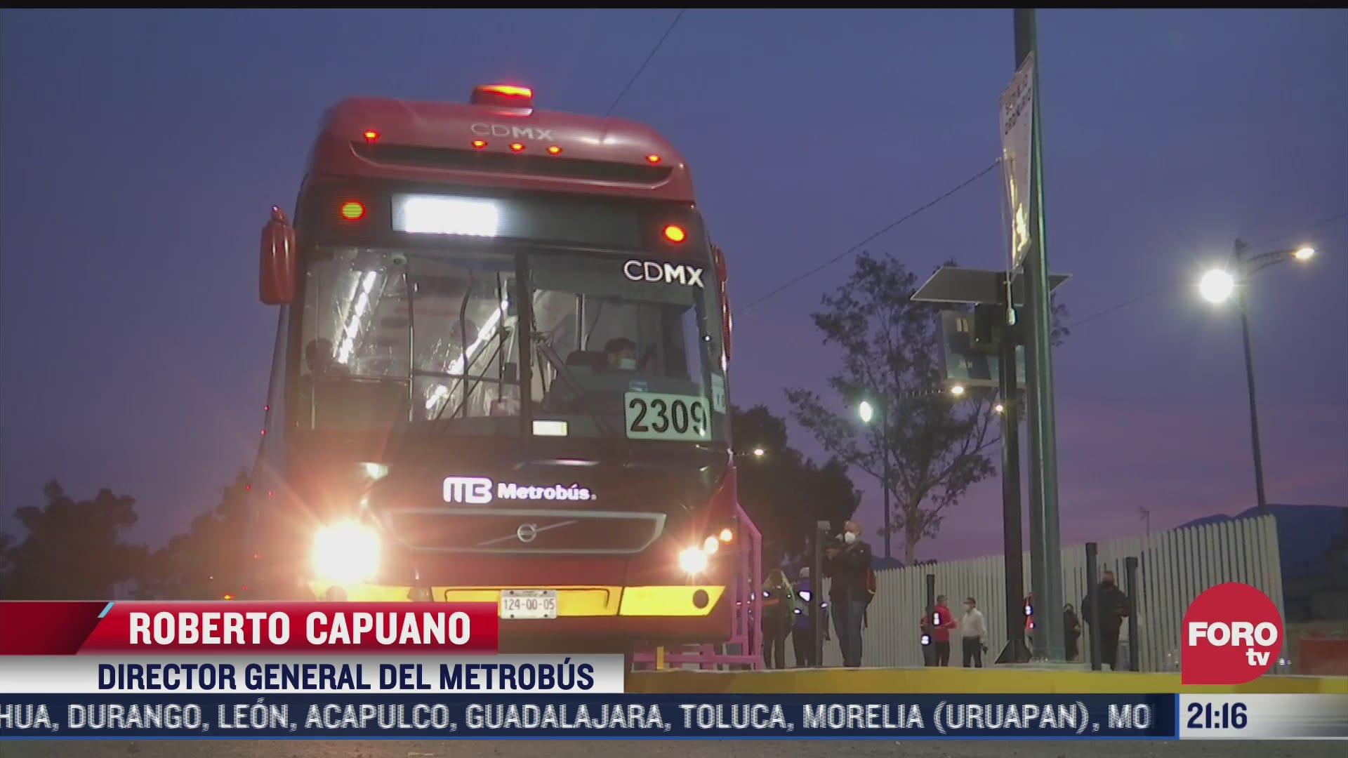 inician pruebas operativas del metrobus en tlahuac