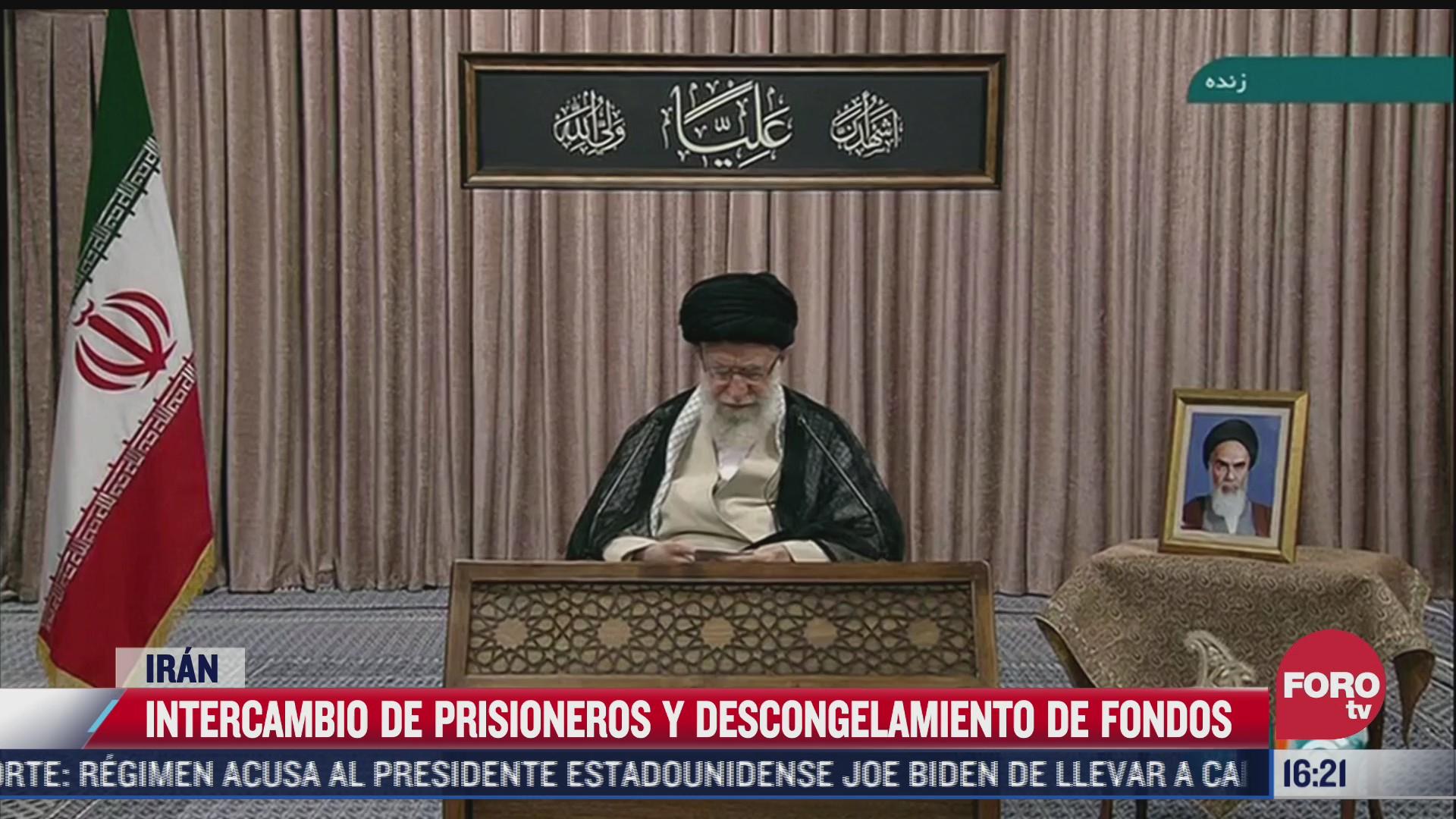 iran y eeuu intercambian prisioneros de guerra