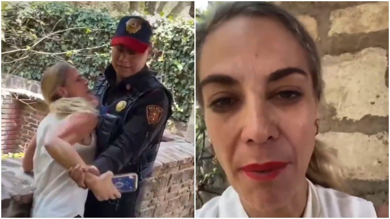 Lady Miguel Hidalgo se hace viral tras ataque con cuchillo y se vuelve viral por arresto