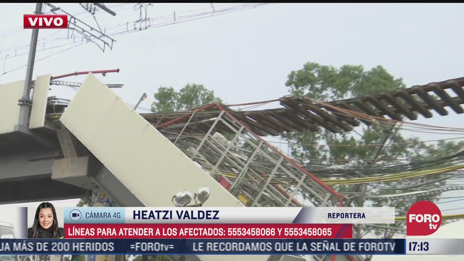 lineas telefonicas para afectados por desplome de l12 del metro