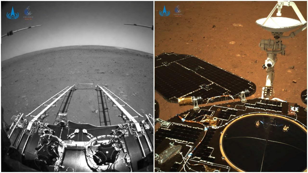 Marte, China, exploración espacial, rover, fotos