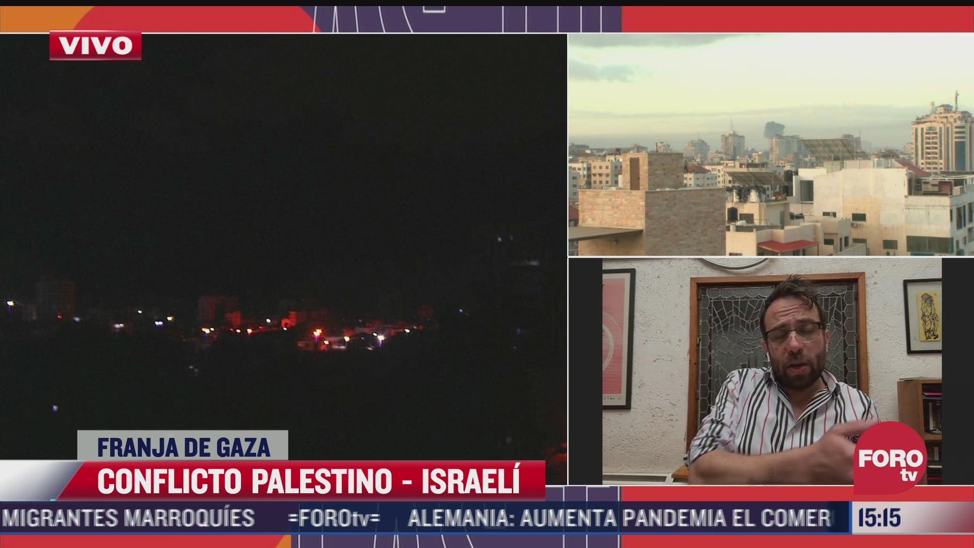 mauran soto habla de conflicto en franja de gaza