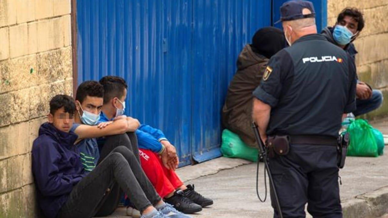 Menores migrantes en Ceuta, España