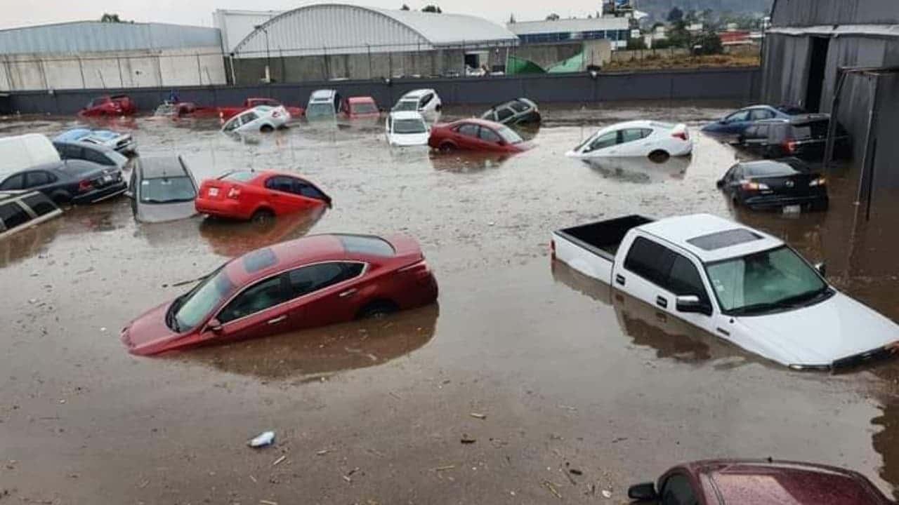 Valle de Toluca anegado por fuertes lluvias