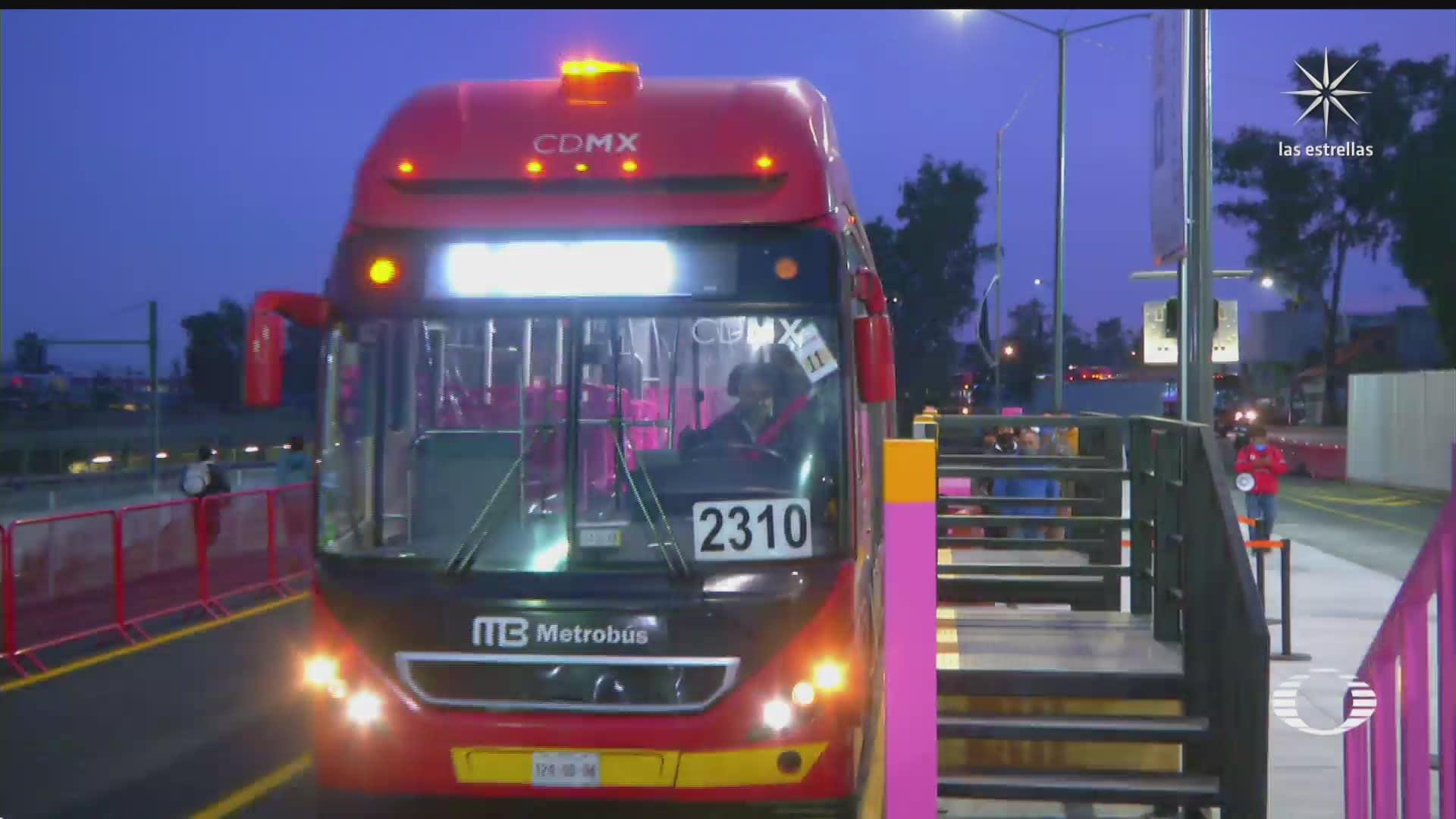 metrobus comienza pruebas en avenida tlahuac cdmx
