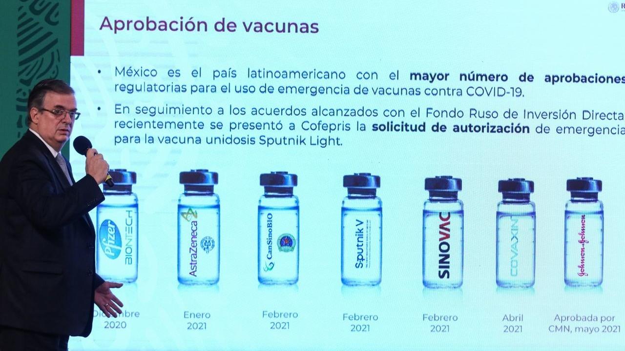 México, primer país en realizar estudio Fase 3 de vacuna china Walvax contra COVID-19: Ebrard
