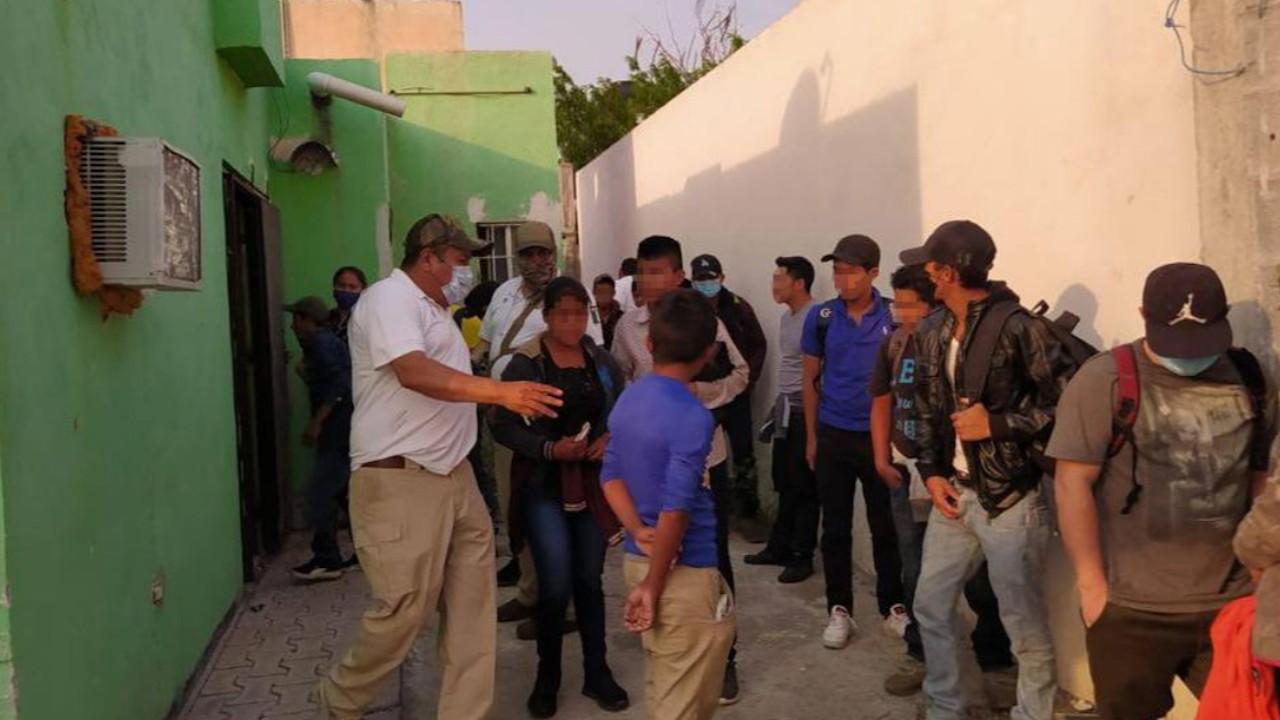 Agentes de la Unidad Especializada en el Combate al Secuestro de Tamaulipas (Twitter: @FGJ_Tam)