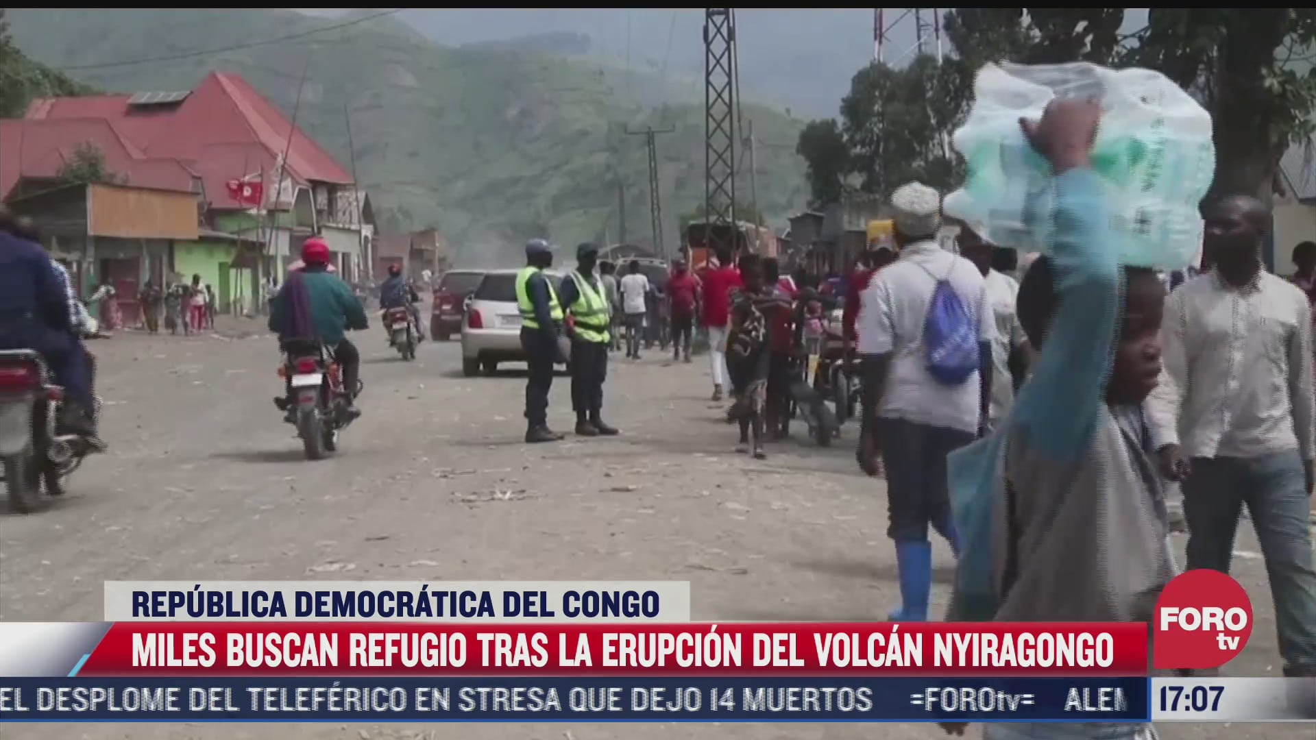 miles buscan refugio tras erupcion del volcan nyiragongo
