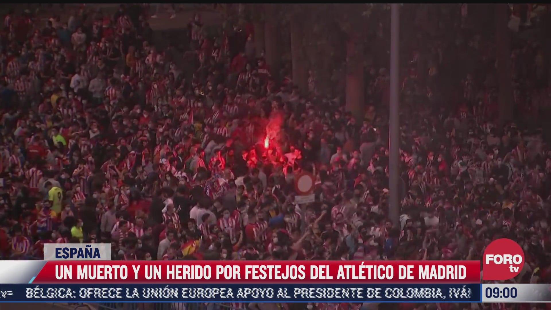miles de aficionados espanoles celebran el titulo de liga del atletico de madrid