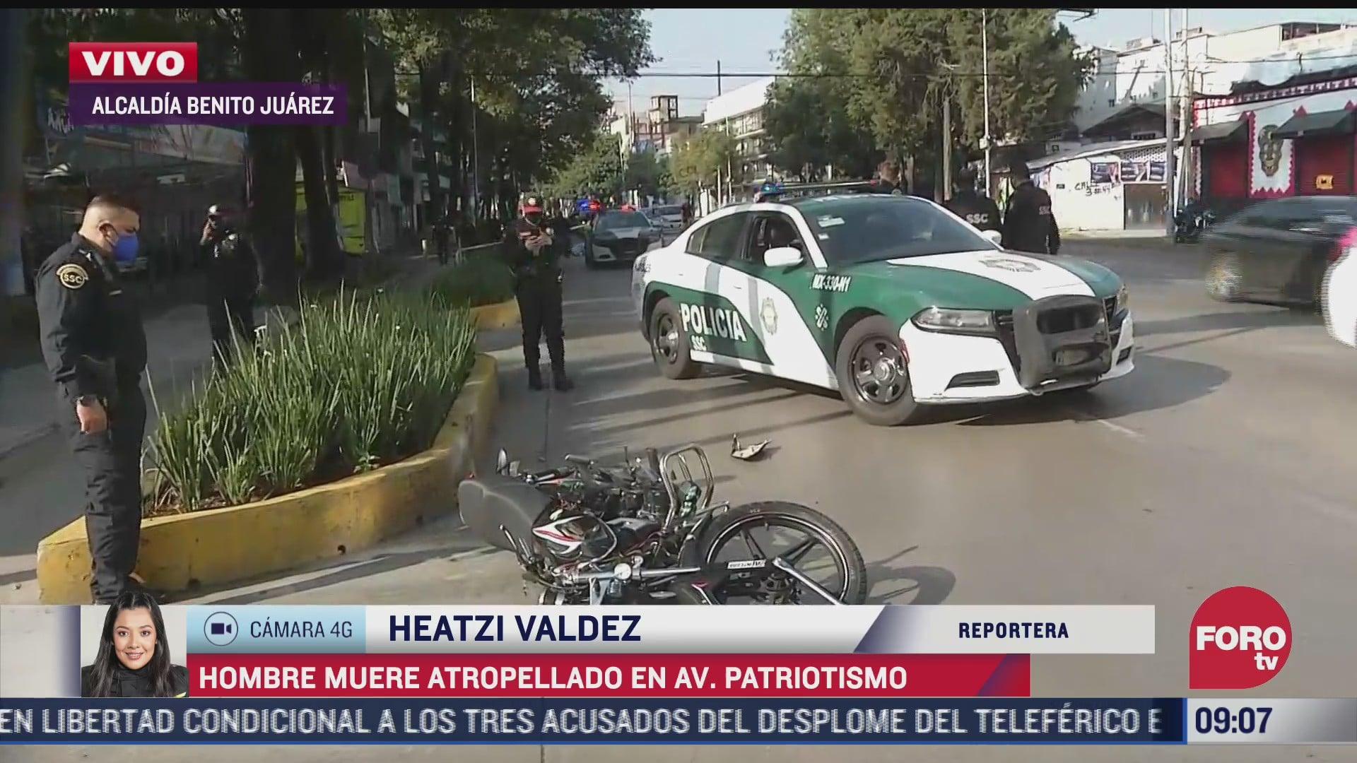 motociclista muere atropellado en avenida patriotismo