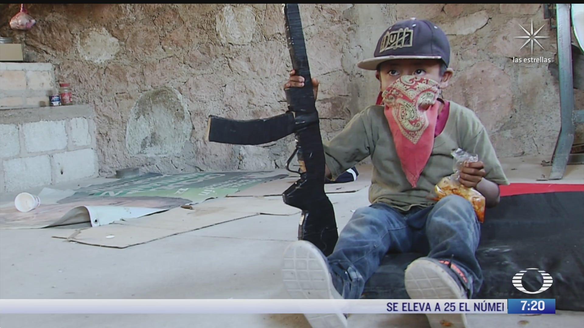 ninos en guerrero rechazan ser armados contra la violencia