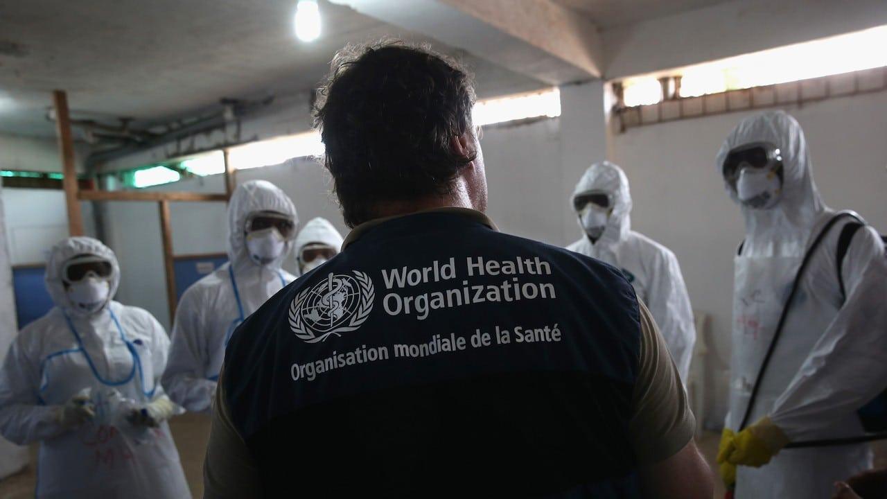 Instructor de la Organización Mundial de la Salud (Getty Images)