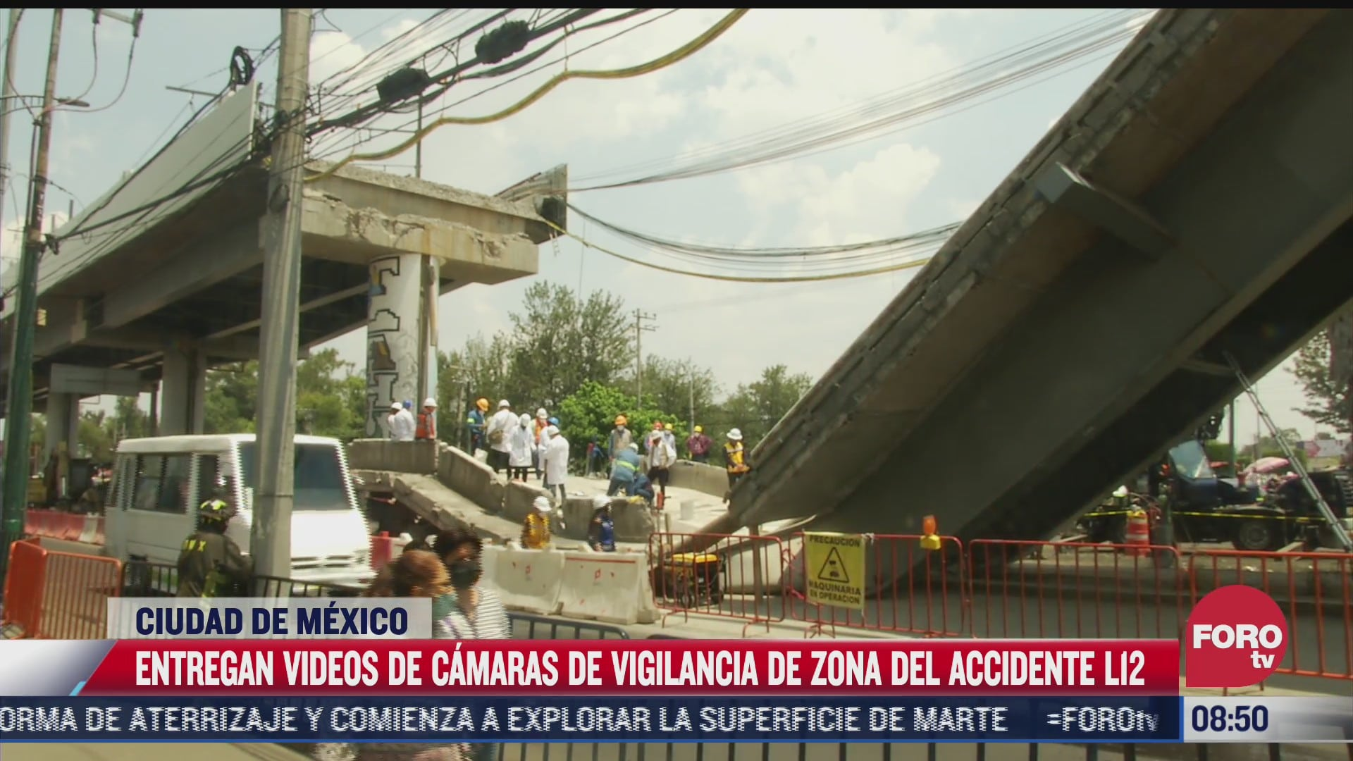 peritos continuan recabando muestras en zona del accidente de linea 12 del metro