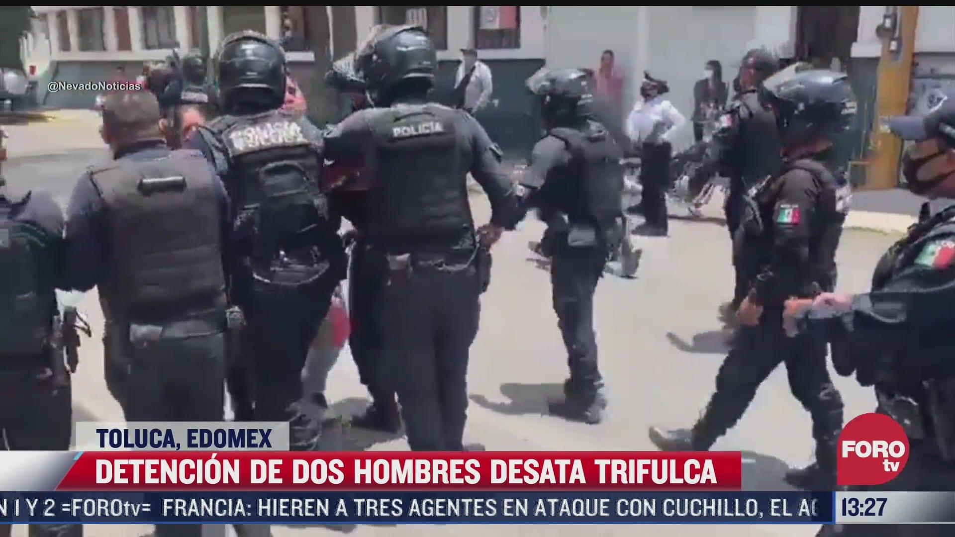 persecucion termina en trifulca en toluca estado de mexico