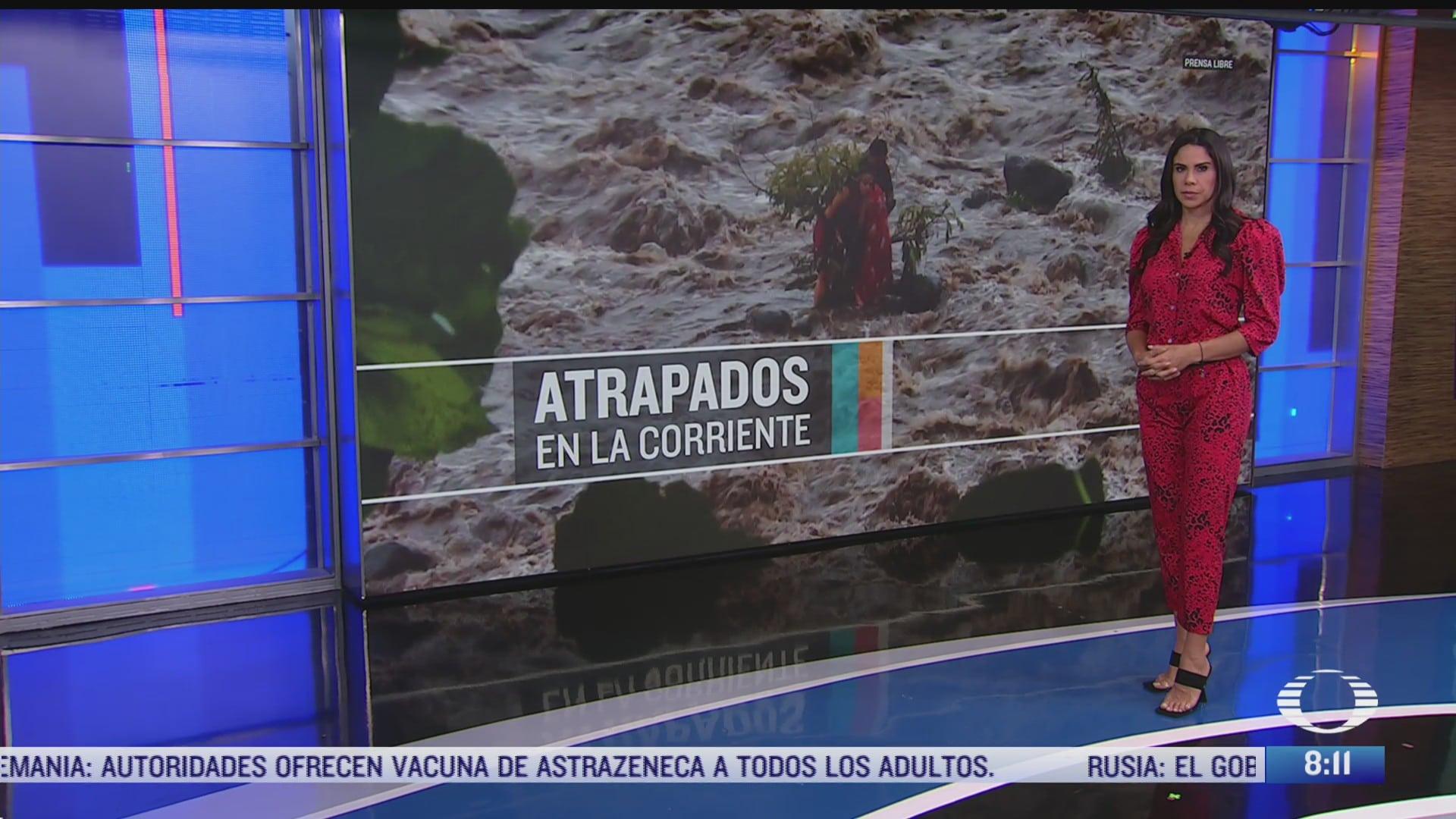 personas atrapadas en corriente del rio san francisco guatemala
