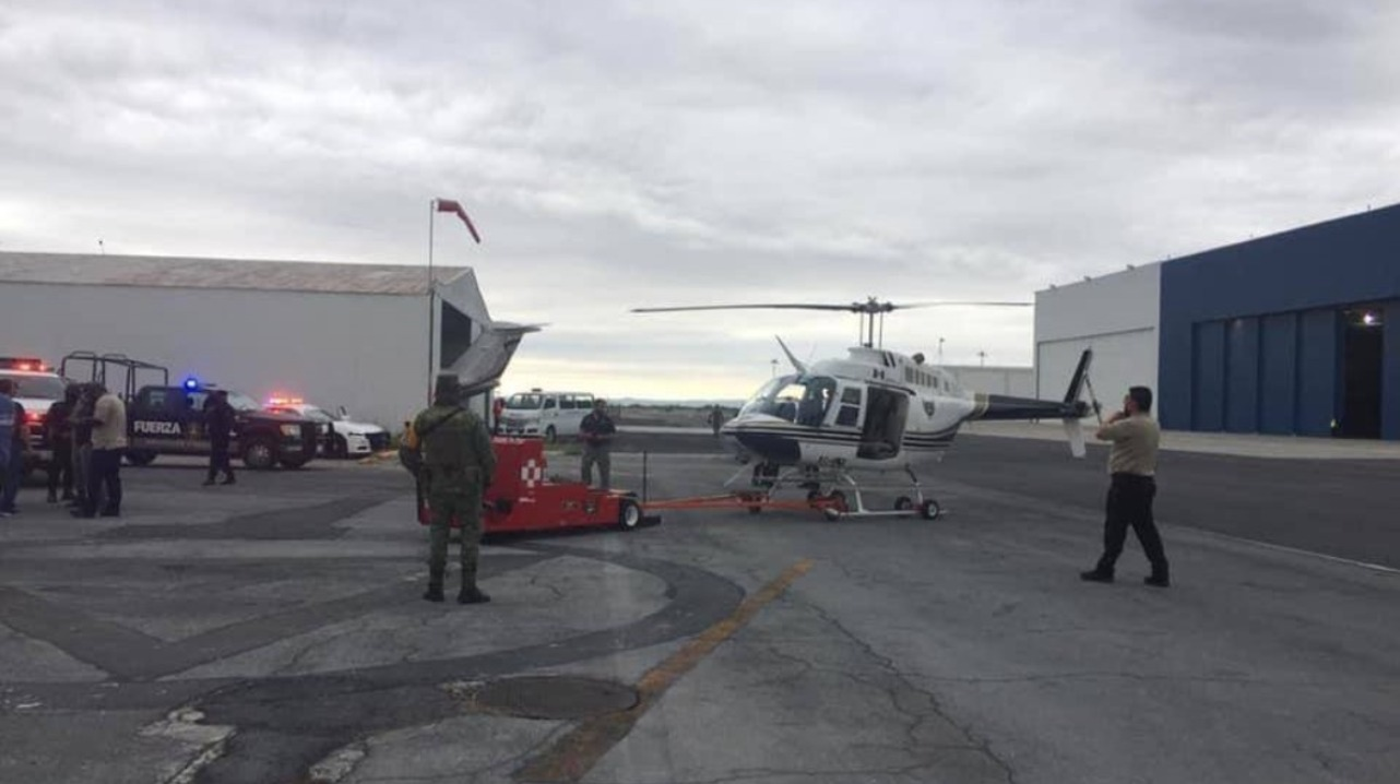Atacan a tiros un helicóptero de Fuerza Civil en Nuevo León