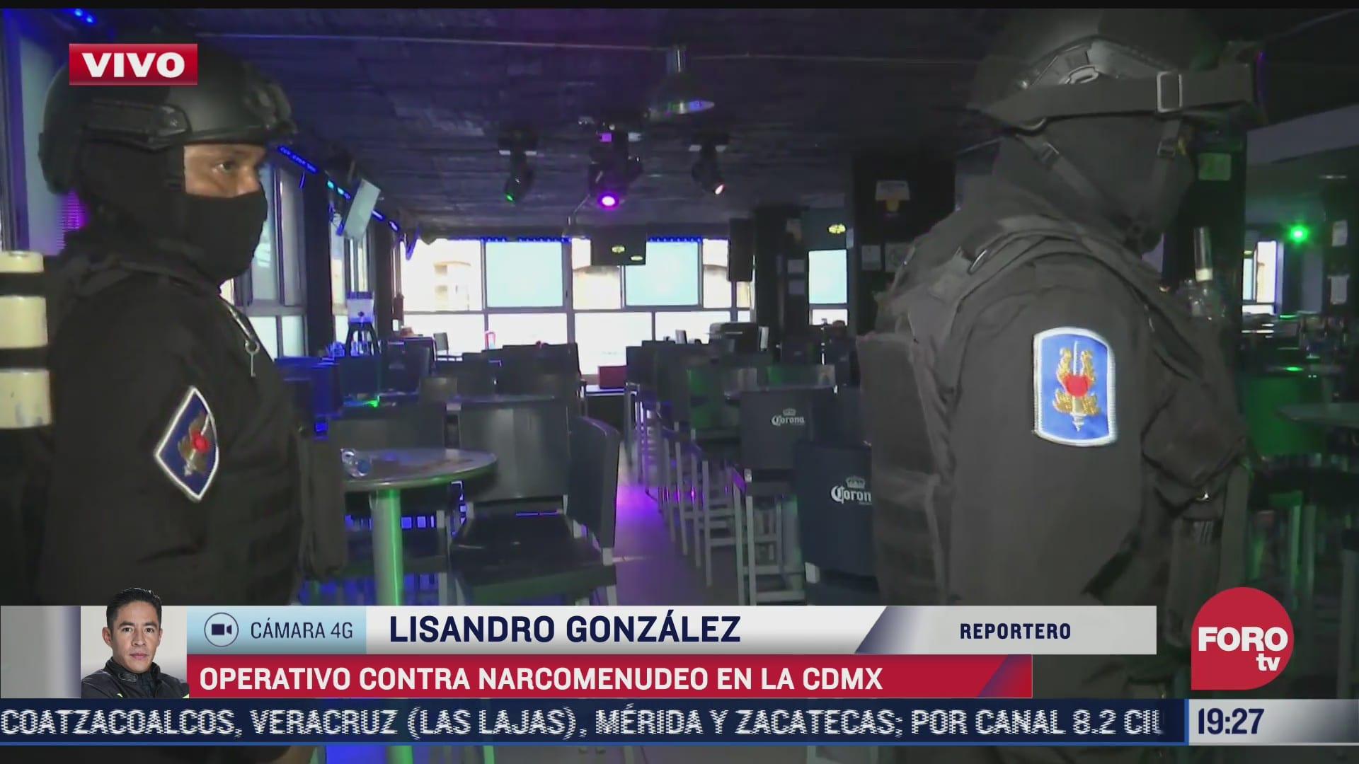 policia infiltrado en bar del centro de cdmx detecta narcomenudeo