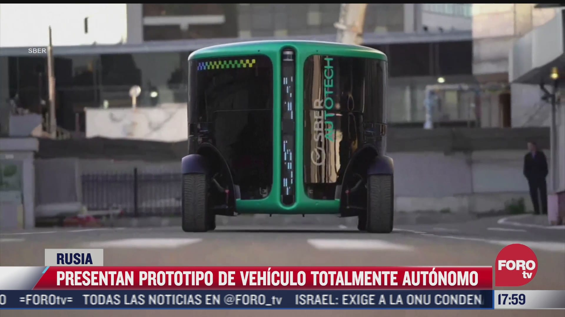 presentan prototipo de taxi totalmente autonomo