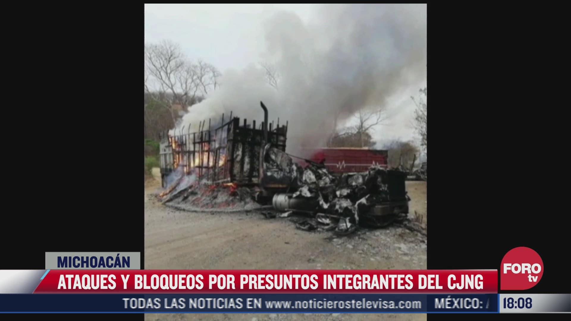 presuntos integrantes del cjng atacan comunidad en michoacan