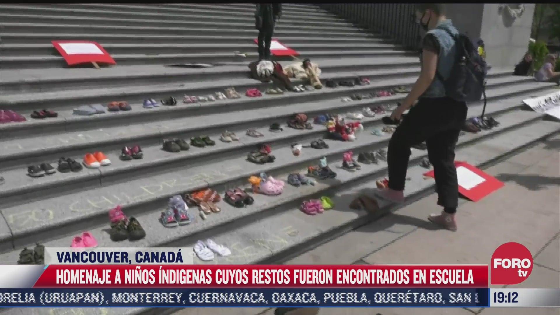 realizan homenaje para 215 ninos indigenas hallados muertos