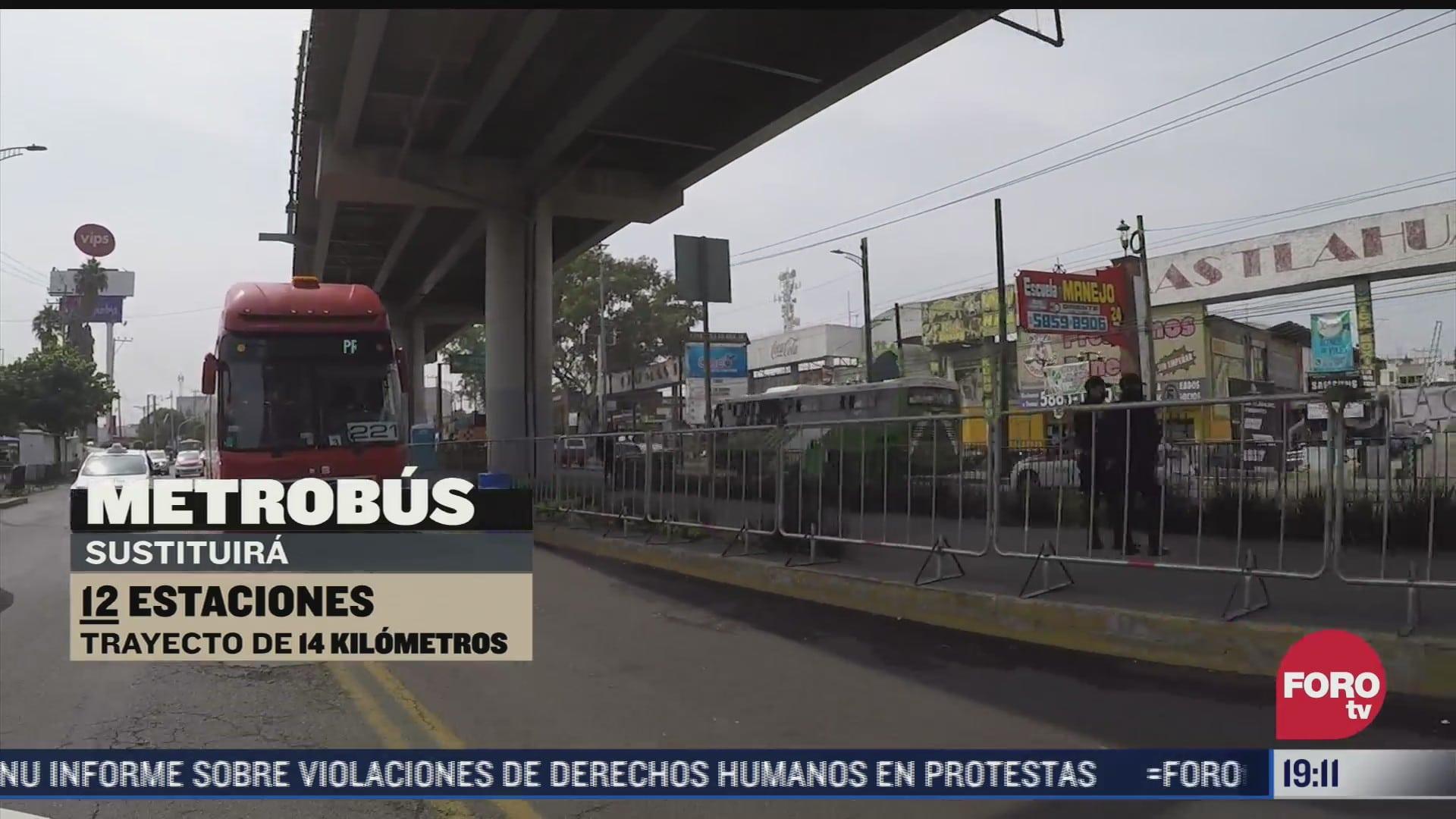 realizan pruebas operativas de la linea del metrobus en tlahuac