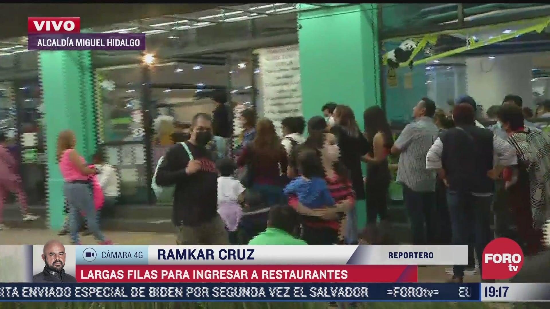 Restaurantes CDMX con largas filas por festejo 10 de Mayo, día de las madres