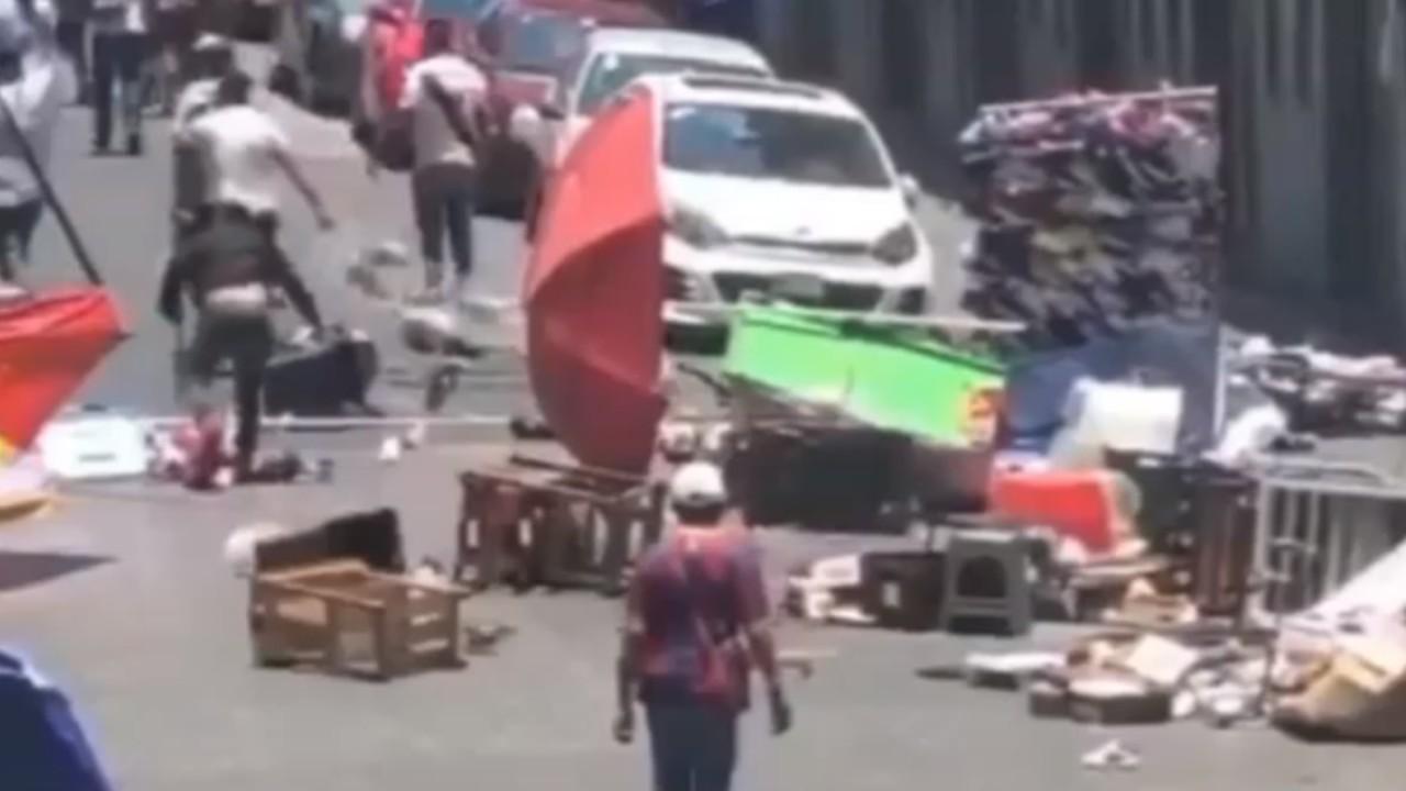 Riña entre comerciantes deja al menos cinco lesionados en Puebla
