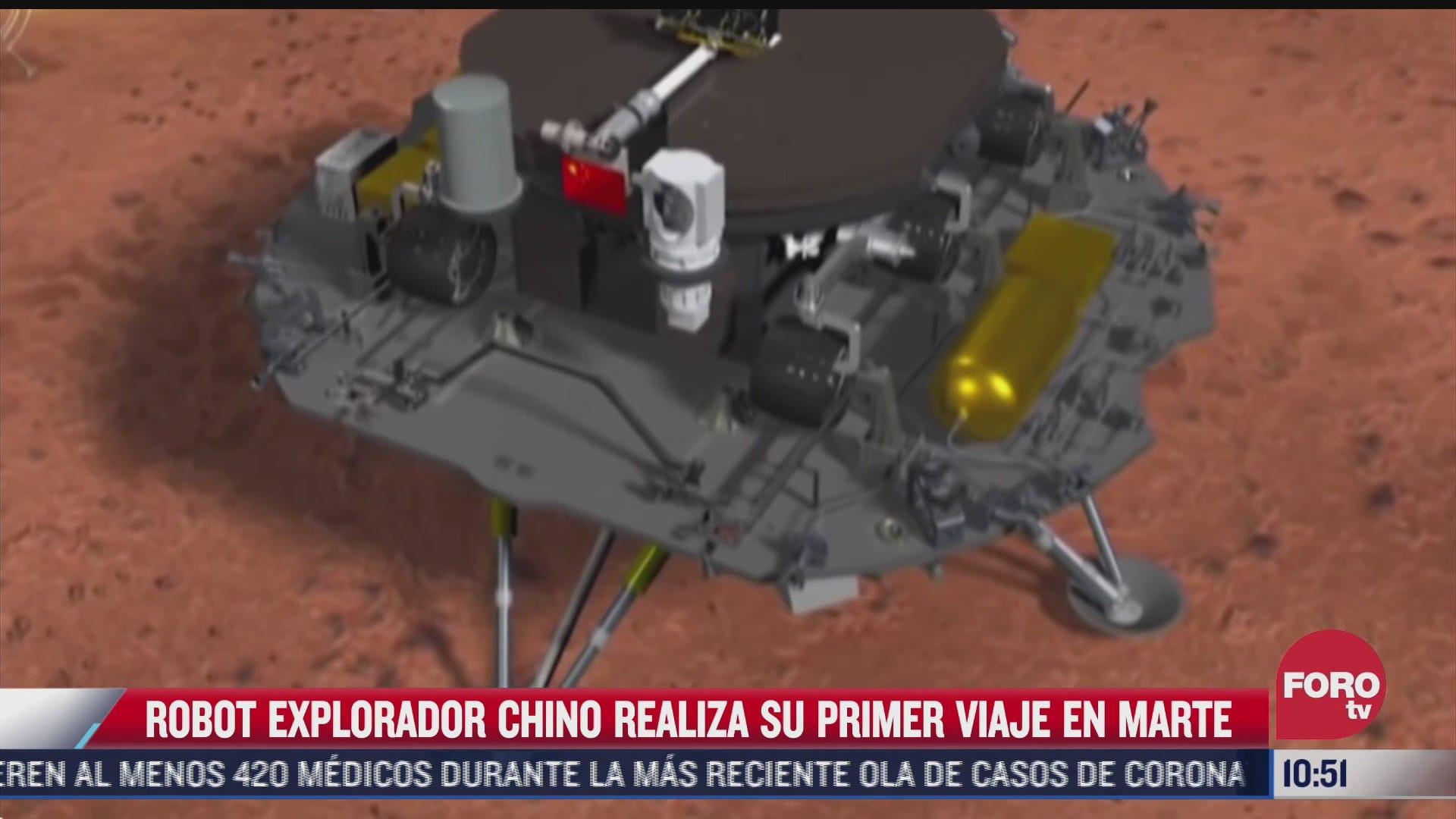 robot explorador chino realiza su primer viaje en marte