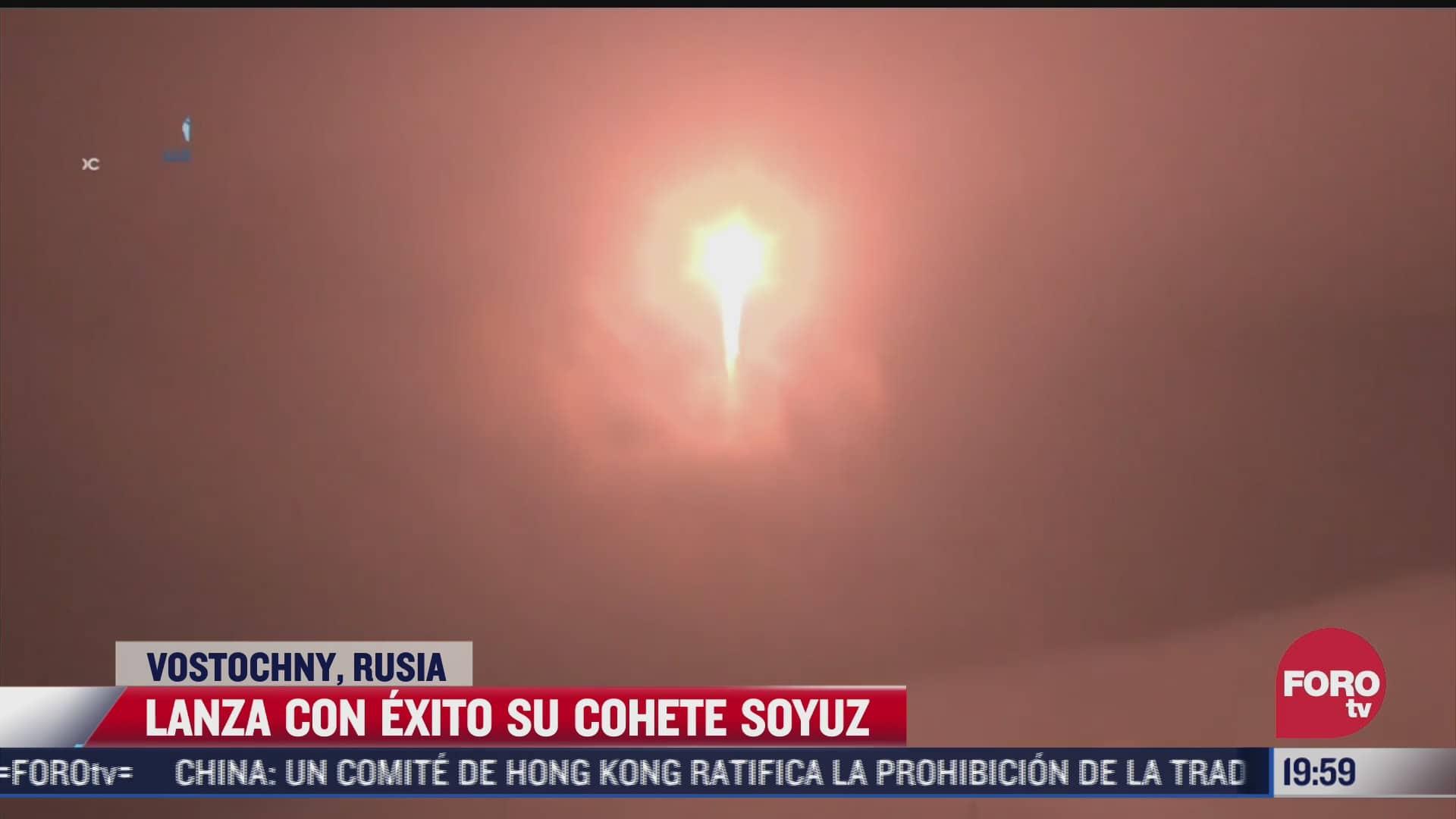 rusia lanza cohete soyuz con 36 satelites