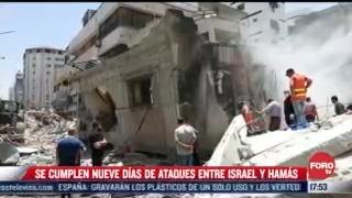 se cumplen 9 dias de ataques entre israel y hamas