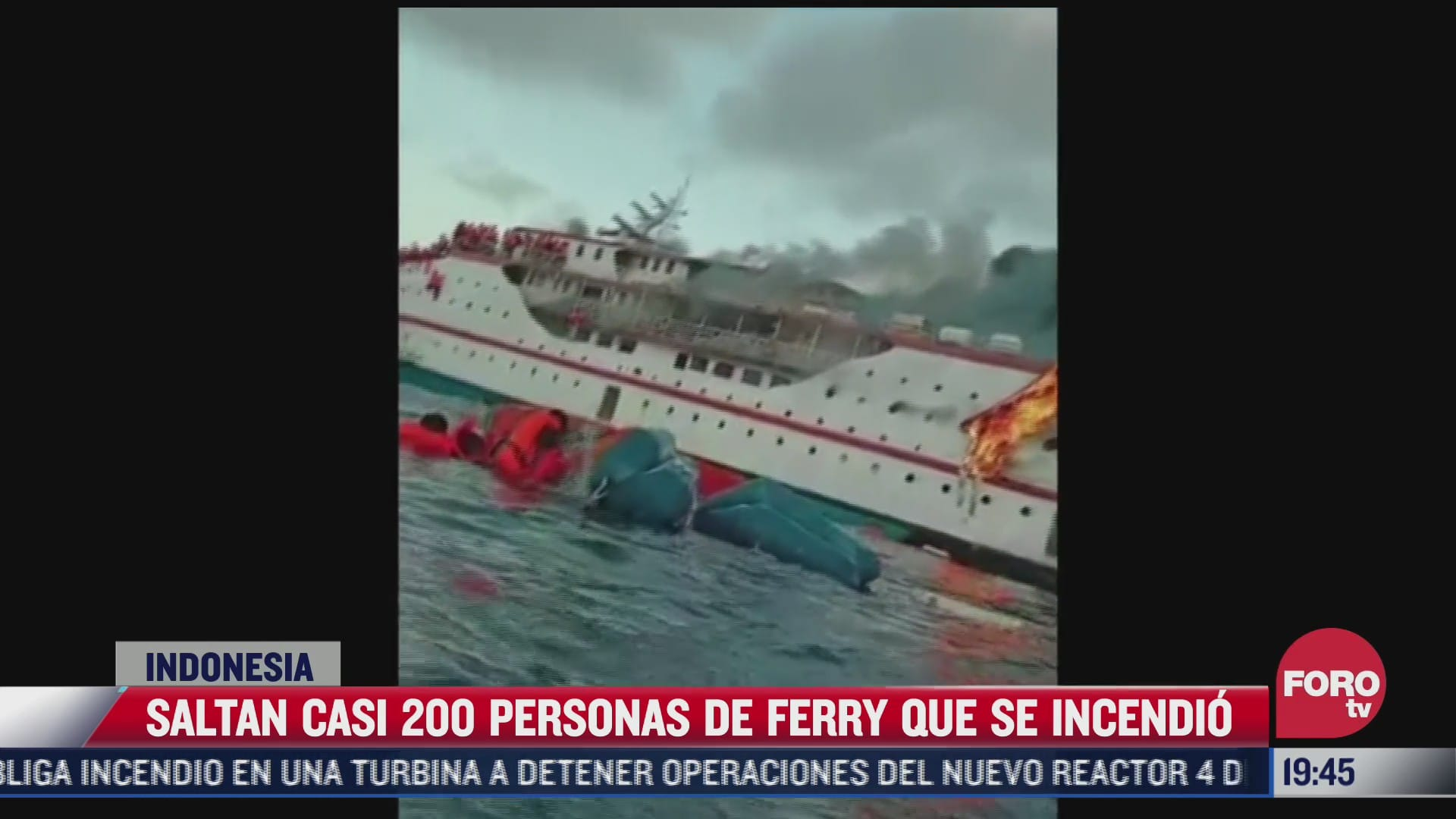 se incendia ferry con 200 personas a bordo en indonesia