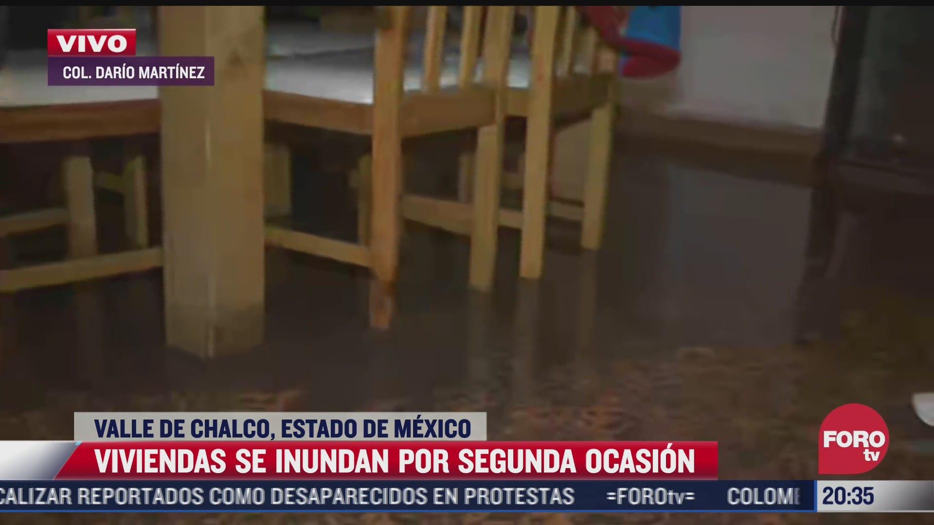 se inundan viviendas por lluvias en valle de chalco edomex