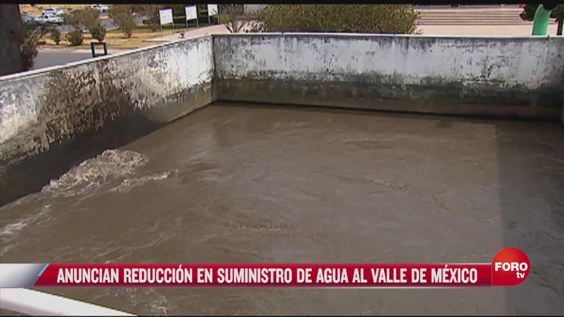 se realizaran cortes de agua en el valle de mexico