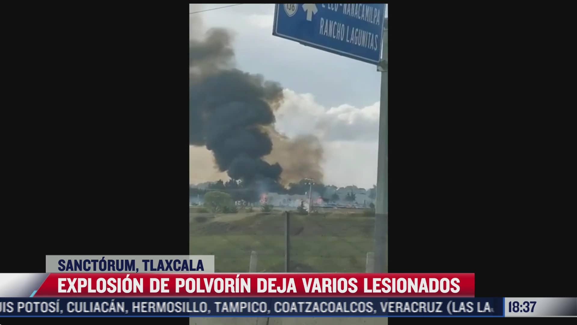 se registra explosion por polvorin en tlaxcala hay 15 heridos