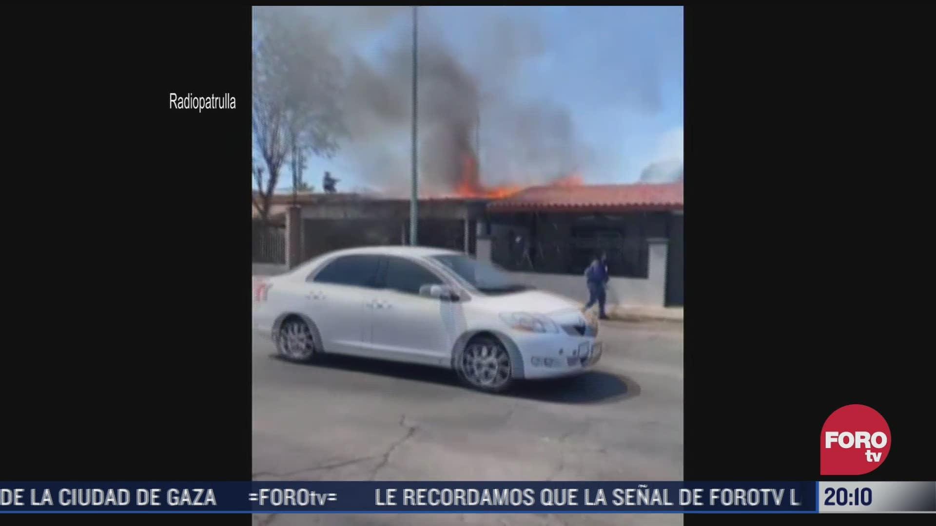 se registra fuerte incendio en vivienda de mexicali baja california