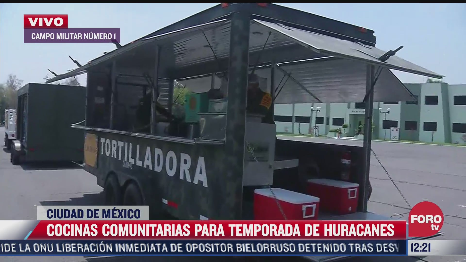 sedena presenta cocinas comunitarias para temporada de huracanes