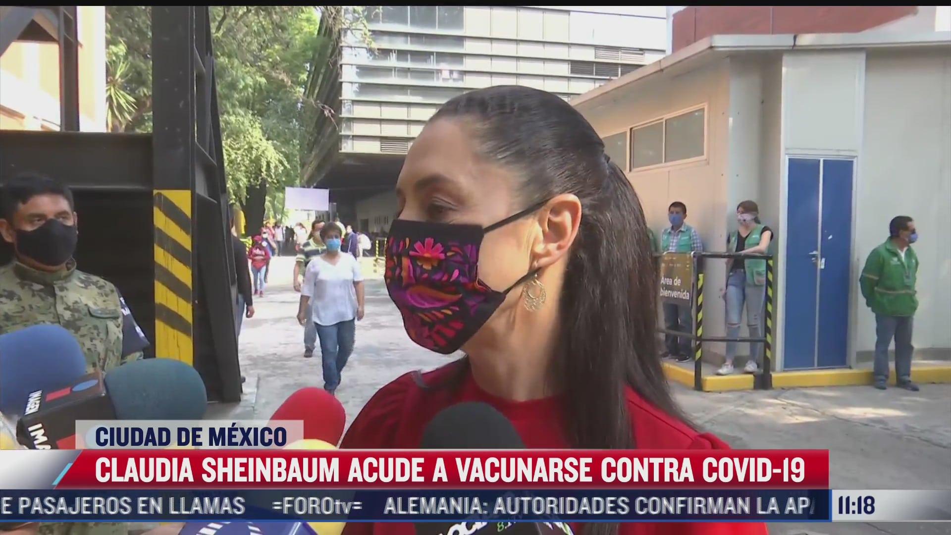 sheinbaum exhorta a la poblacion a vacunarse contra covid