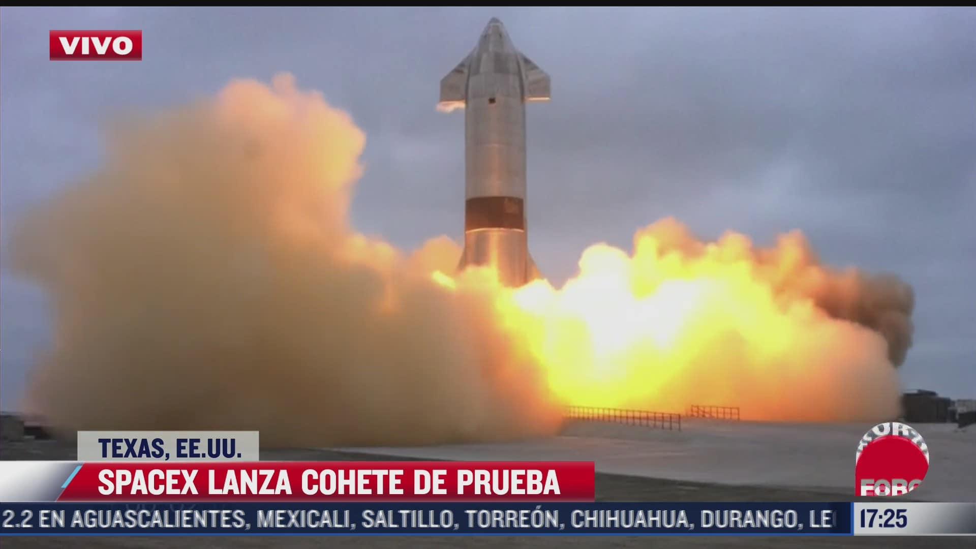 spacex lanza cohete de prueba