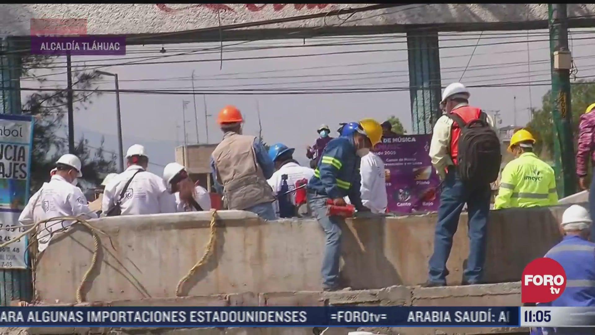 supervisan trabajos en la linea 12 del metro cdmx